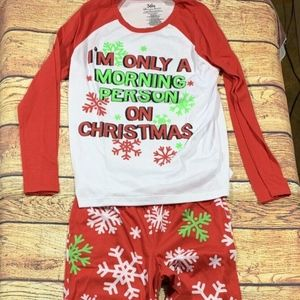 Justice Christmas Pajama Set Girls Size 8